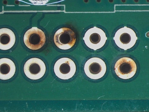 Corrosion from PCB fabrication contamination